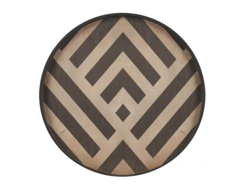 ETHNICRAFT Notremonde Graphite Chevron Mini Wood Tray 노트르몽 미니 우드 트레이