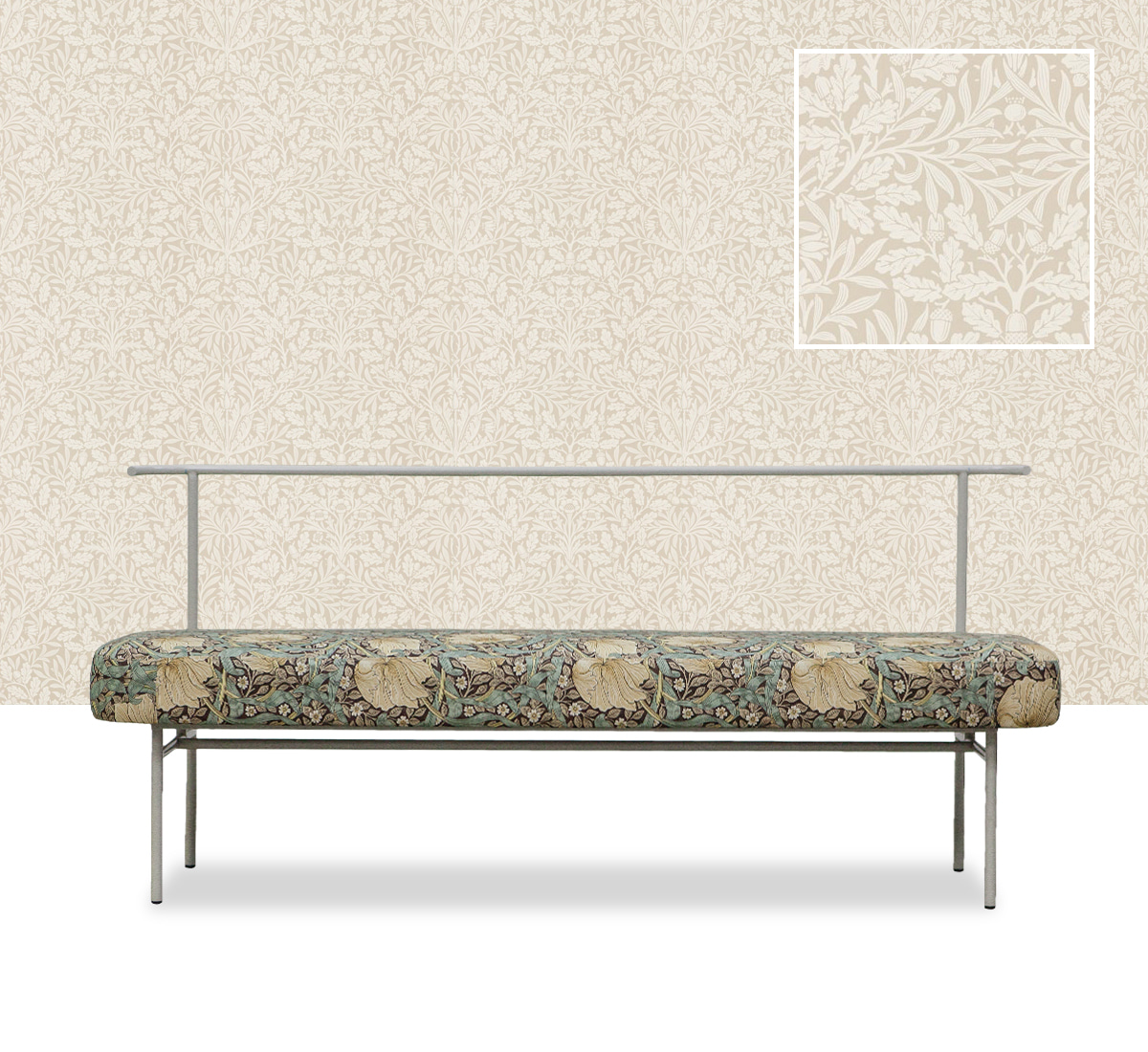 Zacc collection by SEDEC B 160 Bench (Pimpernel Green) B 160 벤치 (핌퍼넬 그린)