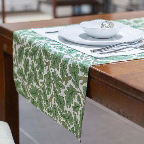 MORRIS & CO. Melsetter_Table Runner (Green) 모리스 테이블 러너 (그린)