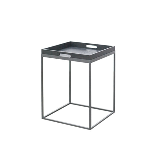 Zacc collection by SEDEC Wood Tray Table 우드 정사각 트레이 테이블(Charcoal)