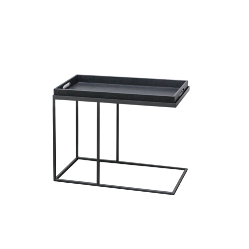 Zacc collection by SEDEC Wood Tray Table 우드 트레이 테이블(Charcoal)