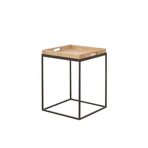 Zacc collection by SEDEC Wood Tray Table 우드 트레이 테이블(정사각)