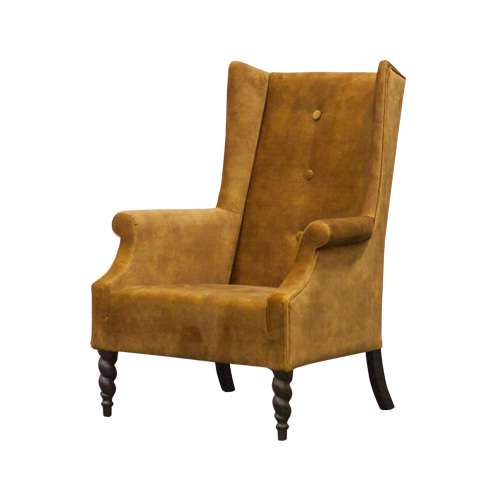 Zacc collection by SEDEC Wing Chair (Gold Velvet) 윙체어 (골드 벨벳)